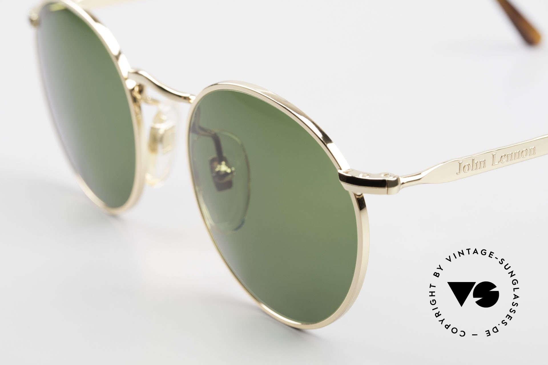 John Lennon - The Dreamer Original JL Collection Glasses, grass-green plastic sun lenses (for 100% UV protection), Made for Men and Women