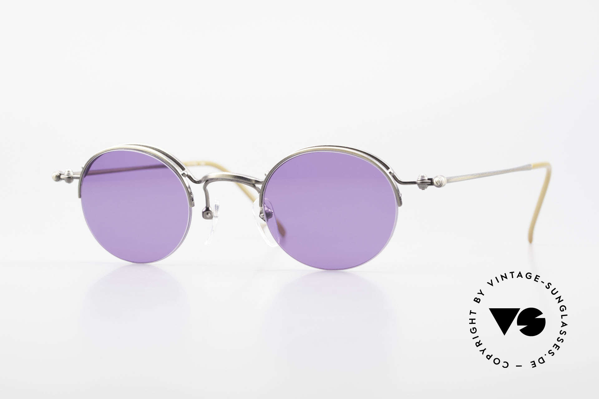 Jean Paul Gaultier 55-7108 Small Panto Sunglasses 90's, timeless Jean Paul GAULTIER designer sunglasses, Made for Men and Women