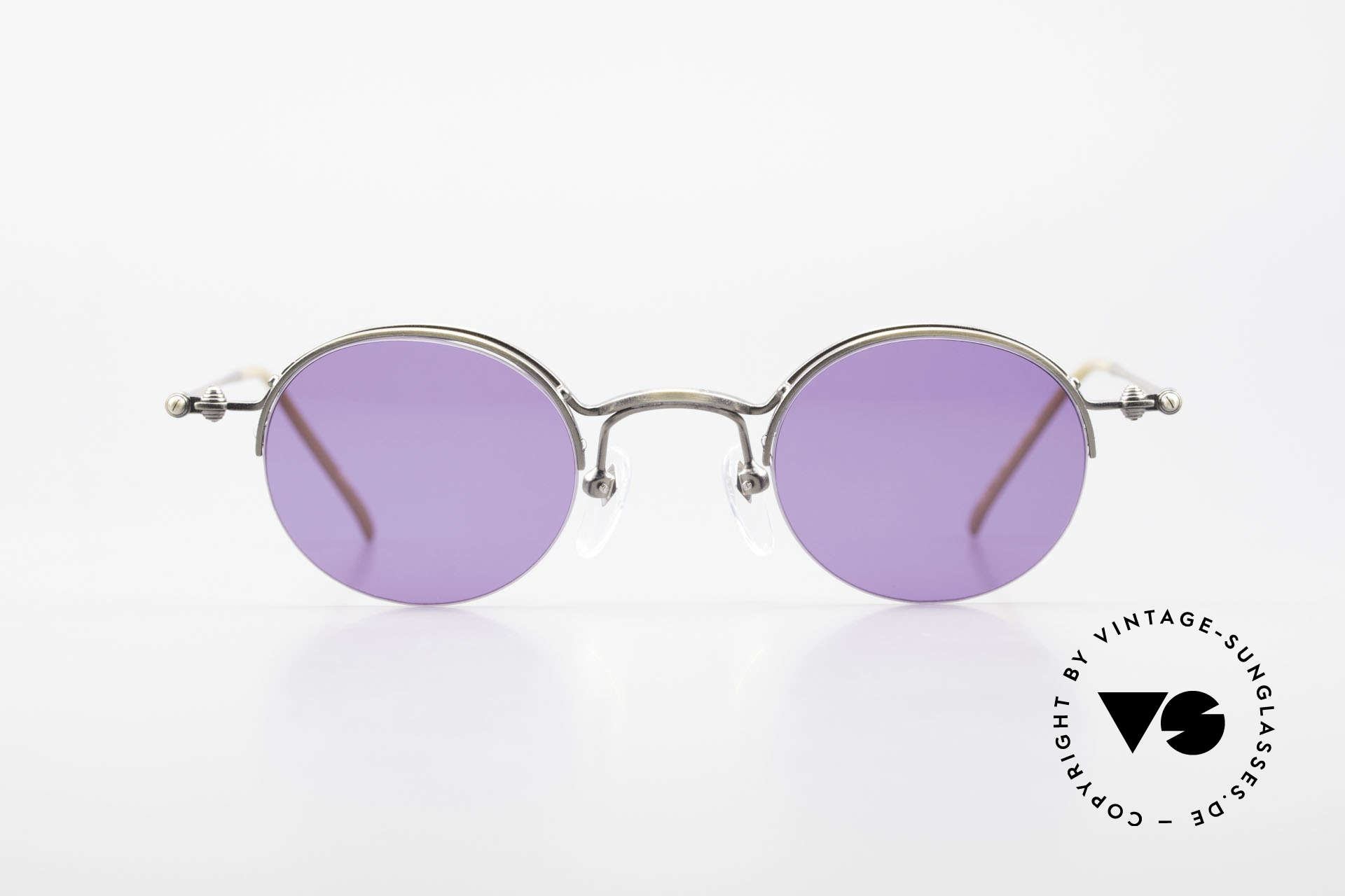 Jean Paul Gaultier 55-7108 Small Panto Sunglasses 90's, legendary 'panto shape' interpreted by JP Gaultier, Made for Men and Women