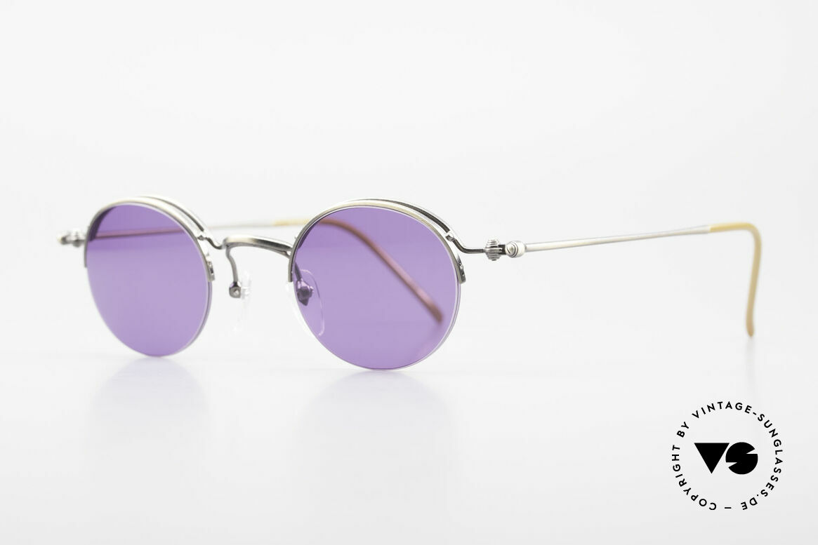 Jean Paul Gaultier 55-7108 Small Panto Sunglasses 90's, lightweight and very comfortable (made in Japan), Made for Men and Women