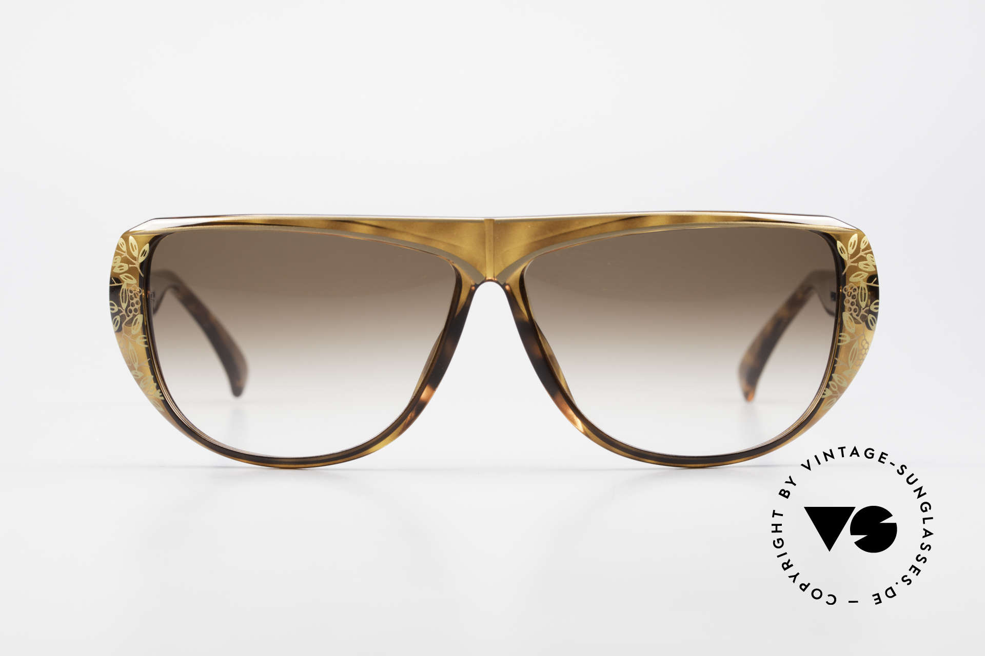 Christian Dior 2421 Ladies Sunglasses 80's Rarity, glamorous colors & pattern thanks to Optyl material, Made for Women