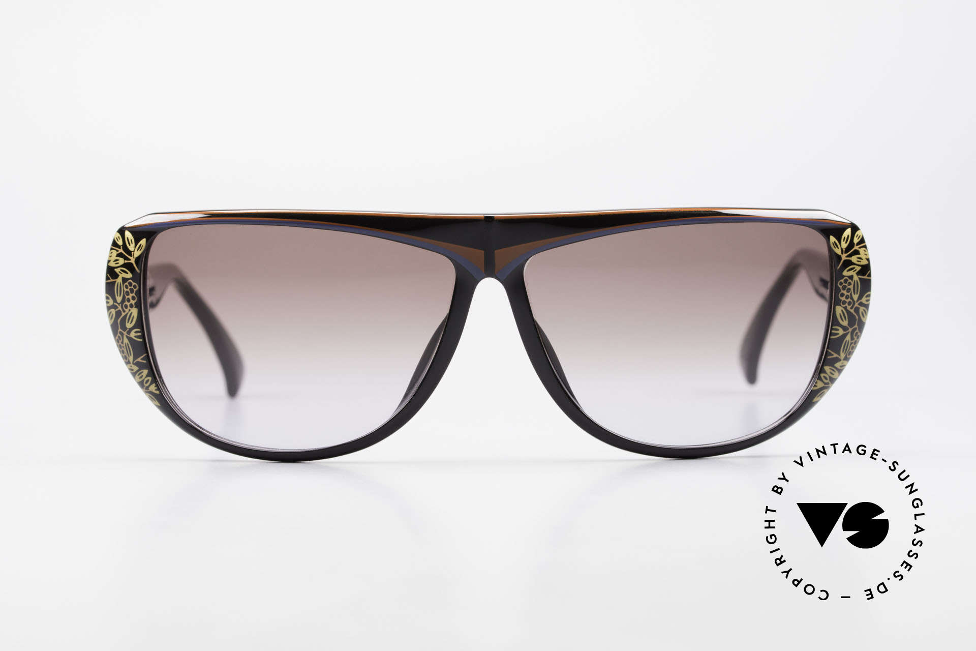 Christian Dior 2421 Ladies Sunglasses 80's Optyl, glamorous colors & pattern thanks to Optyl material, Made for Women