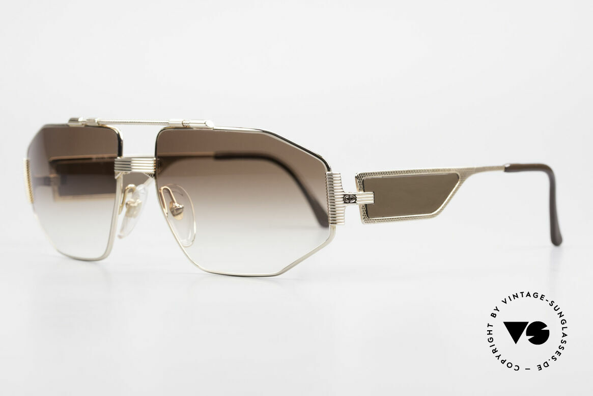 Christian Dior 2427 80's Dior Monsieur Sunglasses, luxury men's sunglasses, the full frame is GOLD-plated, Made for Men