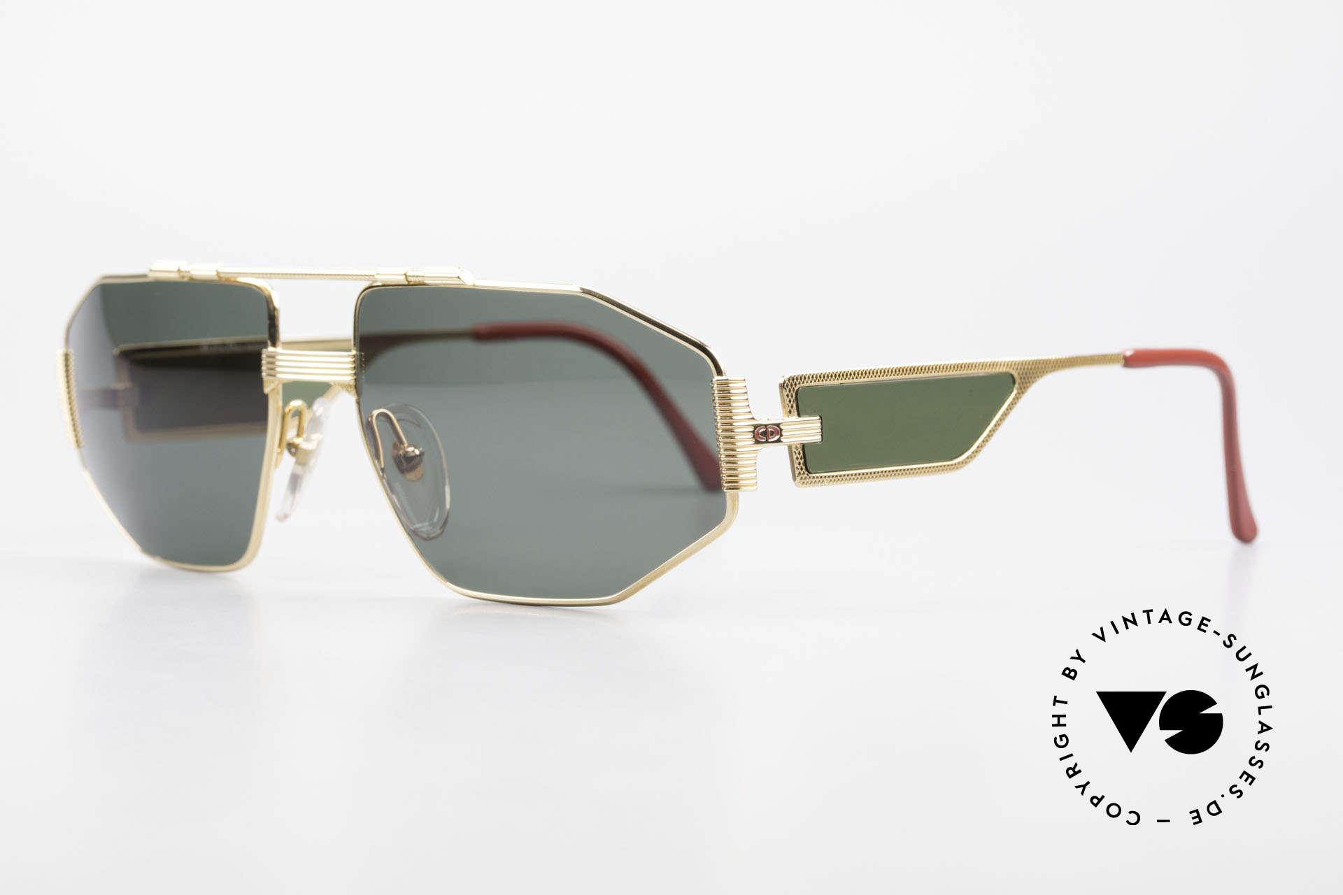 Christian Dior 2427 Dior Monsieur 80's Sunglasses, luxury men's sunglasses, the full frame is GOLD-plated, Made for Men