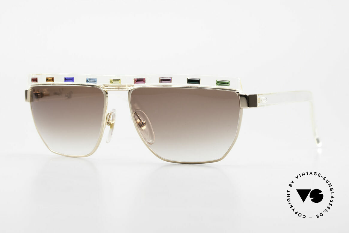Paloma Picasso 3706 With Colors Of All Gemstones, ladies 90's designer sunglasses by PALOMA Picasso, Made for Women