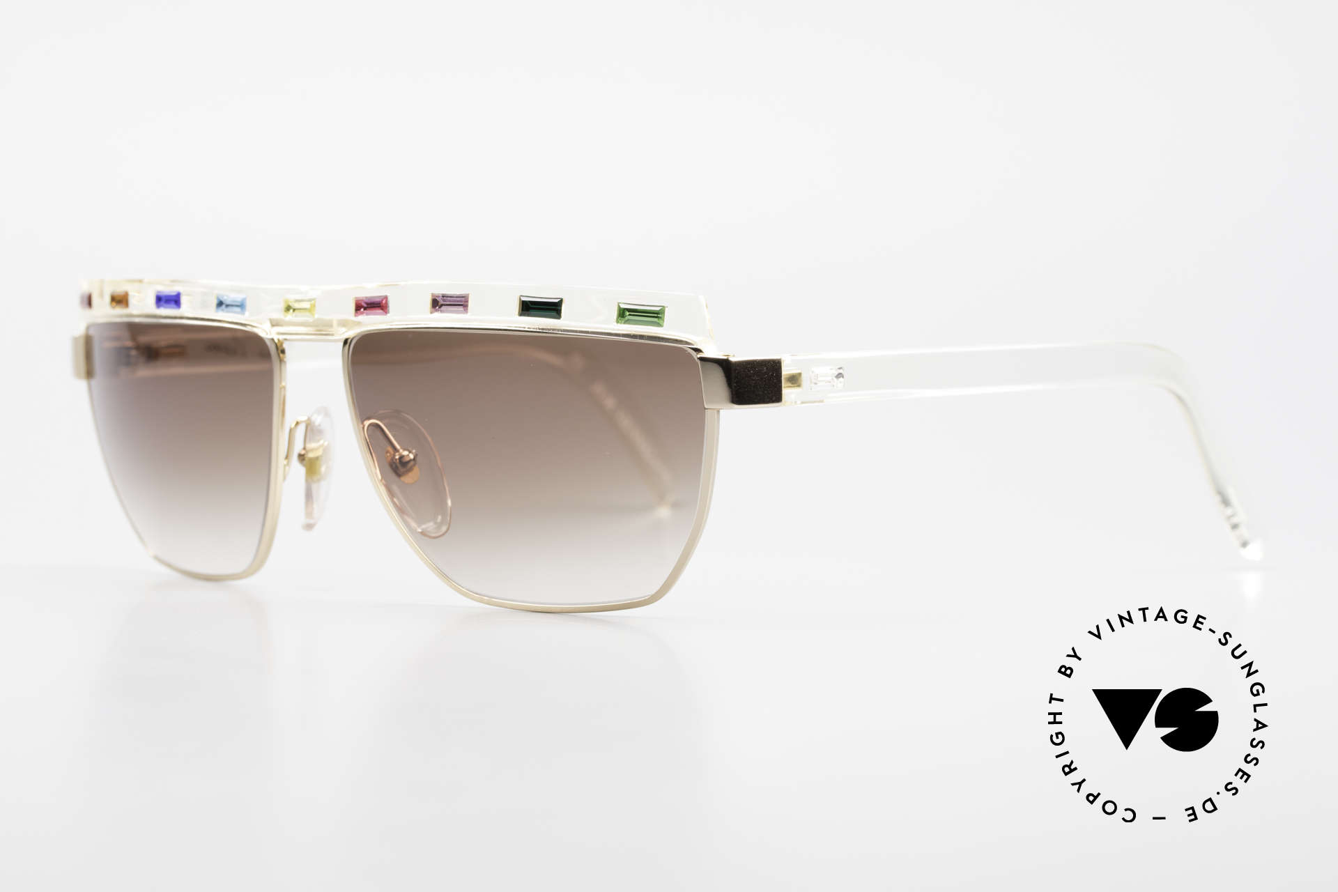 Paloma Picasso 3706 With Colors Of All Gemstones, in 1990, Paloma created these beautiful sunglasses, Made for Women