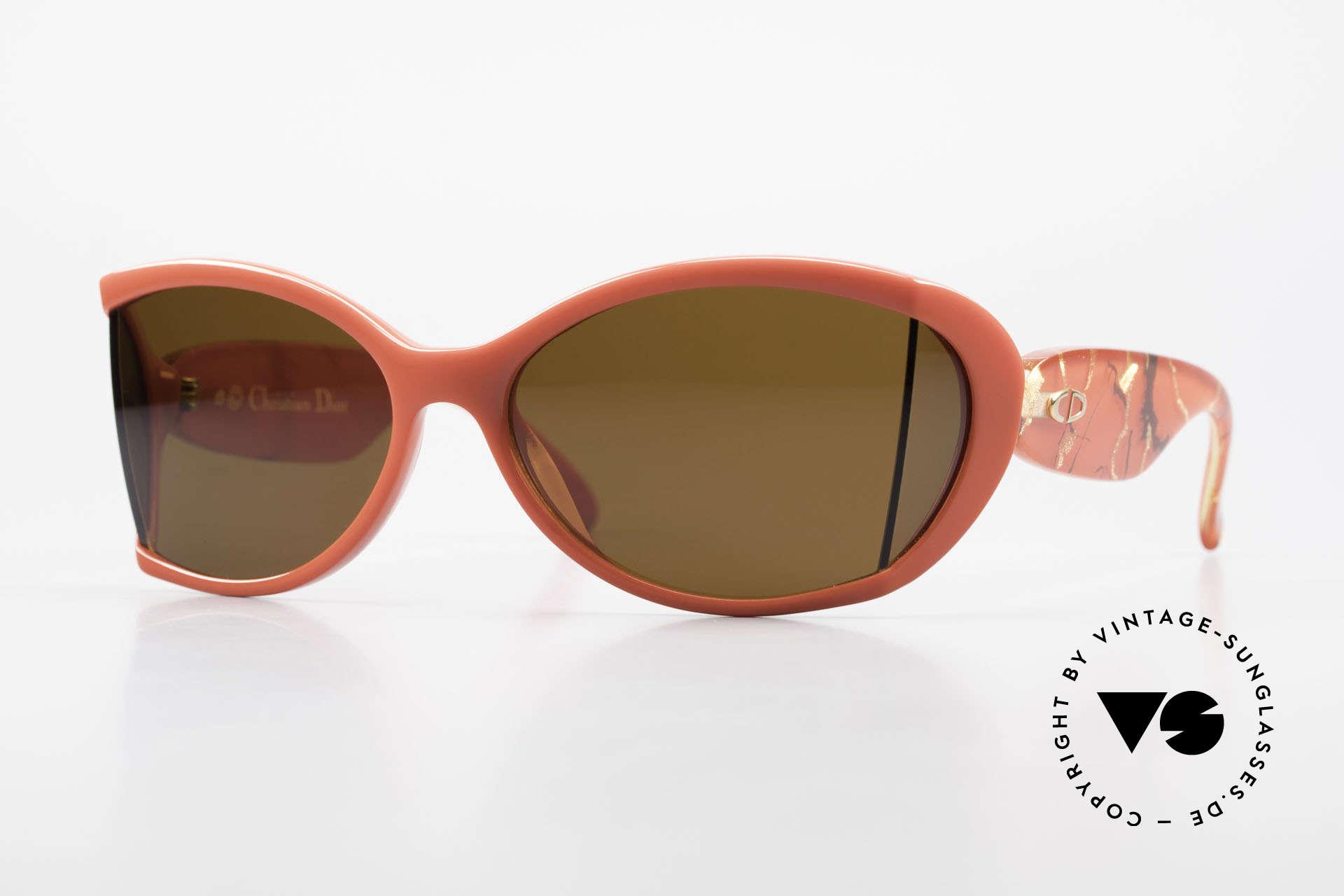 Christian Dior 2439 80's Sunglasses Side Shield, futuristic Christian Dior ladies sunglasses from 1989, Made for Women