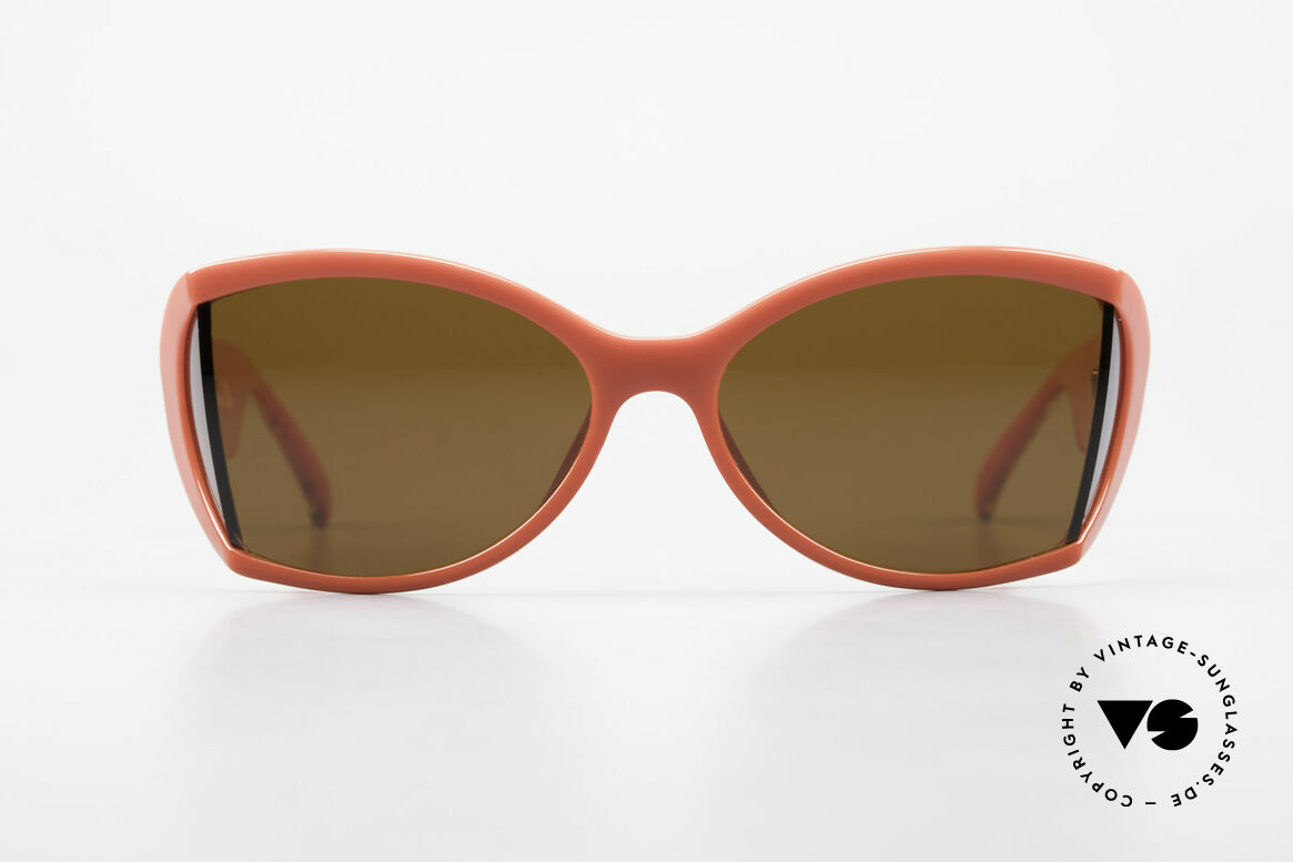 Christian Dior 2439 80's Sunglasses Side Shield, glamorous colors & pattern thanks to Optyl material, Made for Women