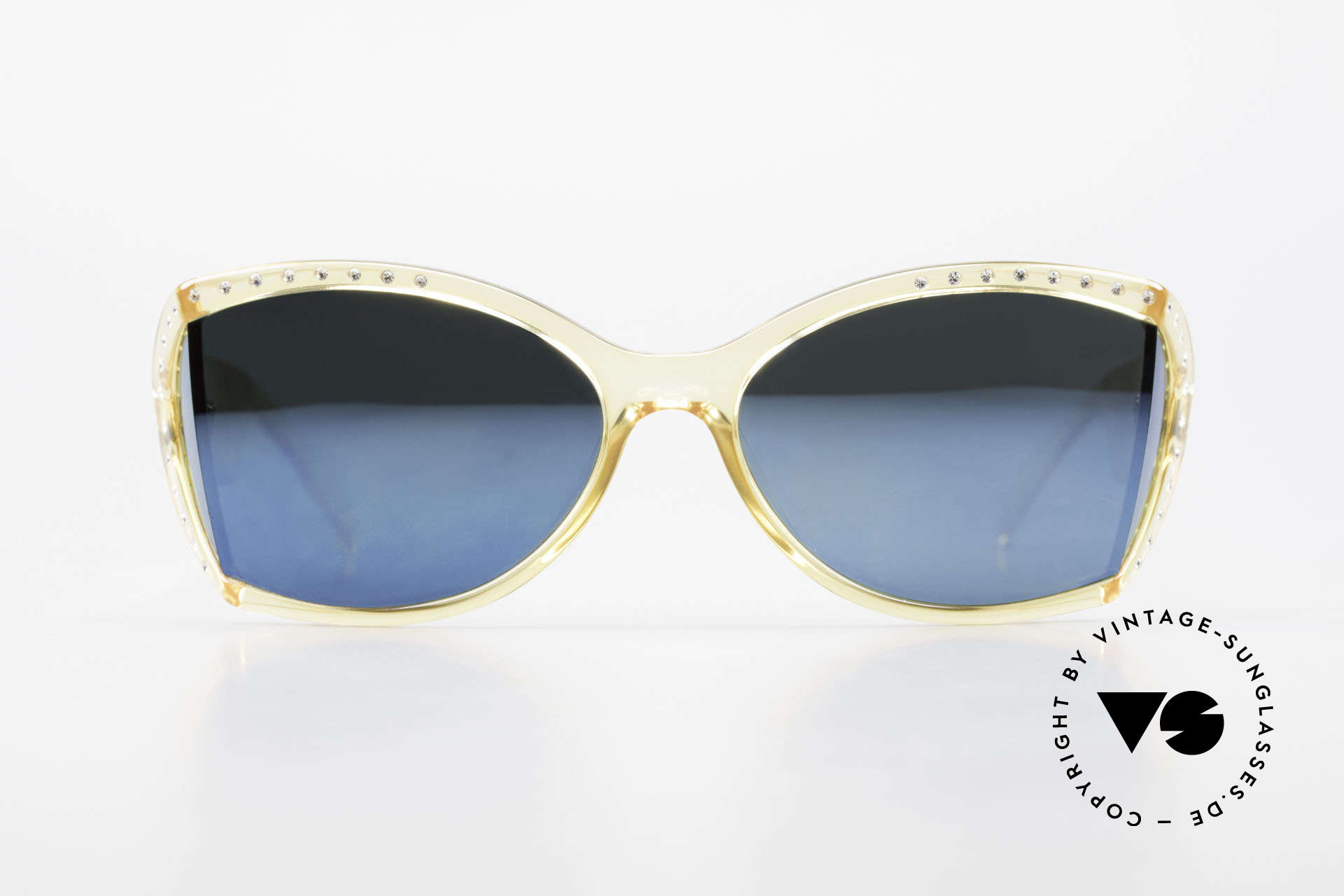 Christian Dior 2439 80's Crystal Sunglasses Gem, rhinestones and translucent color thanks to OPTYL!, Made for Women