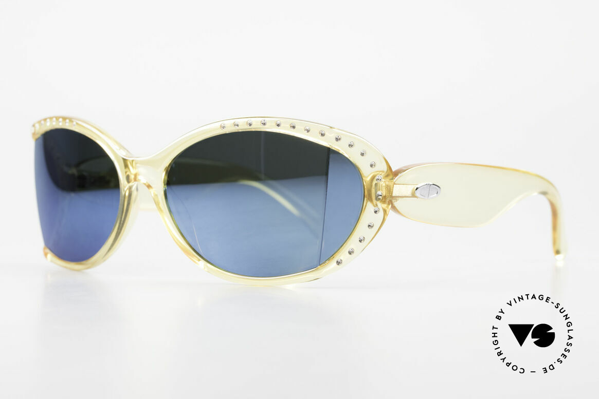 Christian Dior 2439 80's Crystal Sunglasses Gem, the incredible OPTYL material does not seem to age, Made for Women