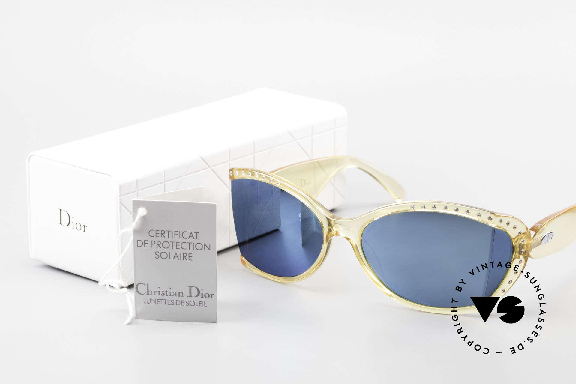 Christian Dior 2439 80's Crystal Sunglasses Gem, Size: medium, Made for Women