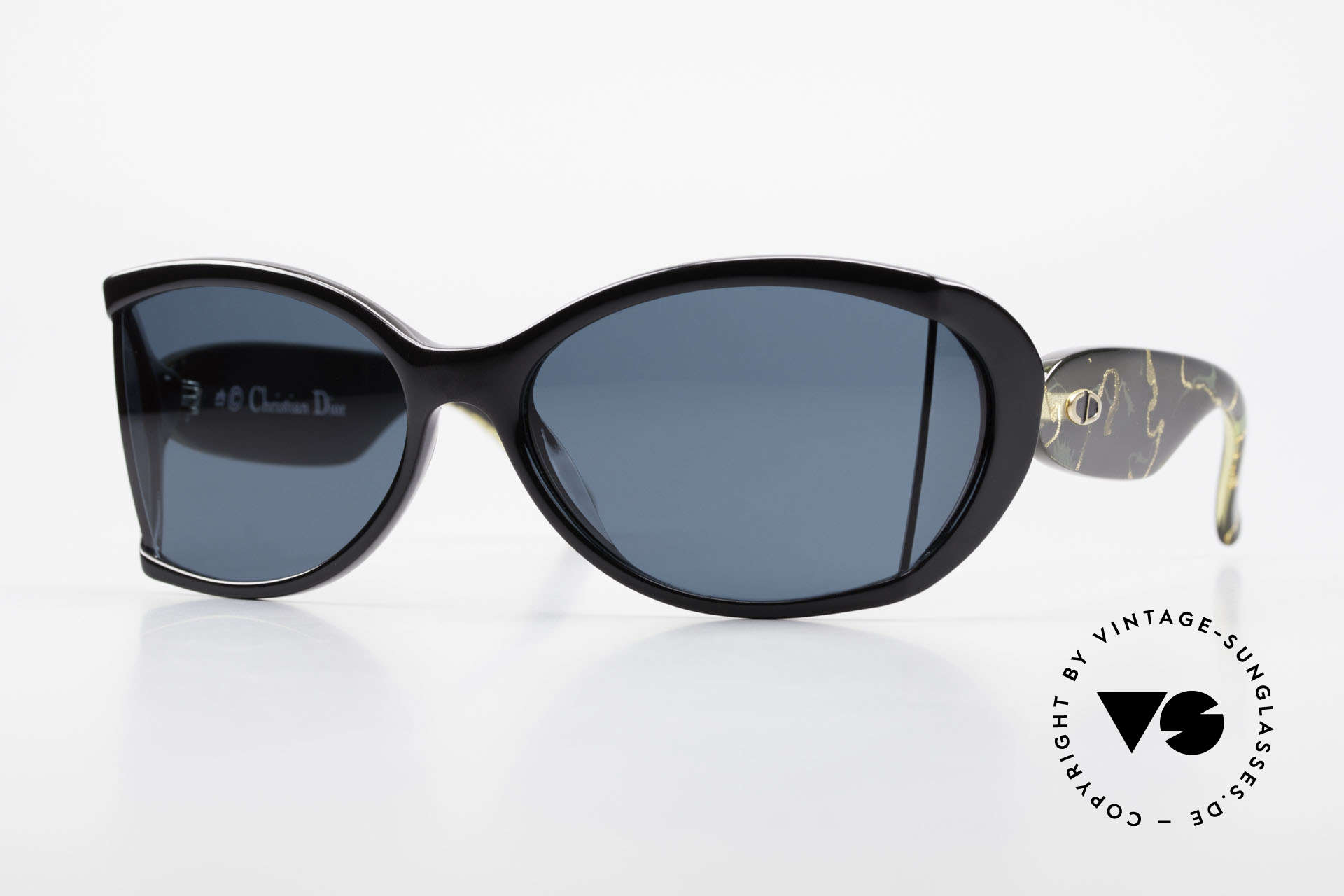 Christian Dior 2439 80's Ladies Shades Side Blinds, futuristic Christian Dior ladies sunglasses from 1989, Made for Women
