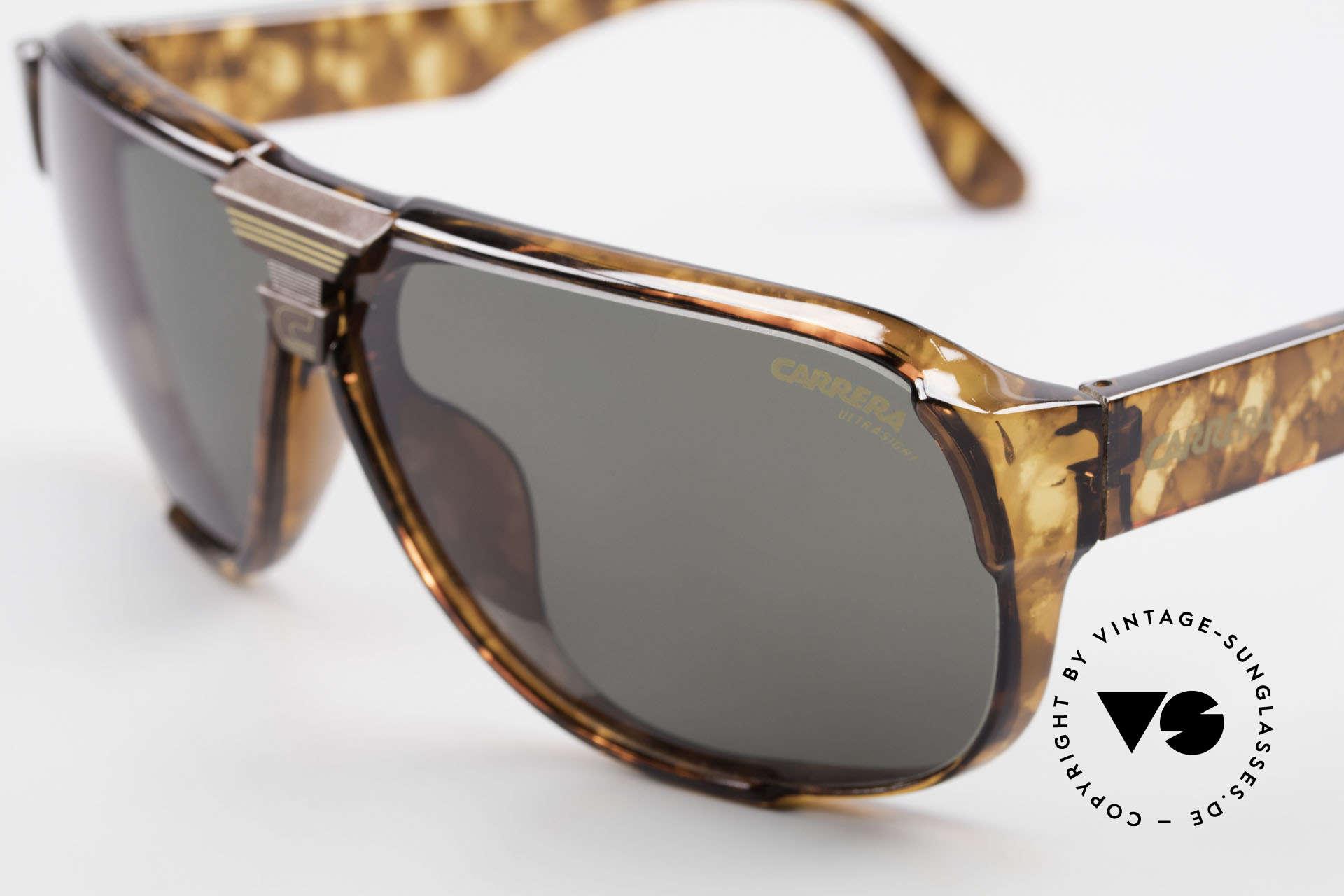 Carrera 5431 80's Alpine Changer Sunglasses, brown Ultrasight and green Ultrasight (100% UV), Made for Men