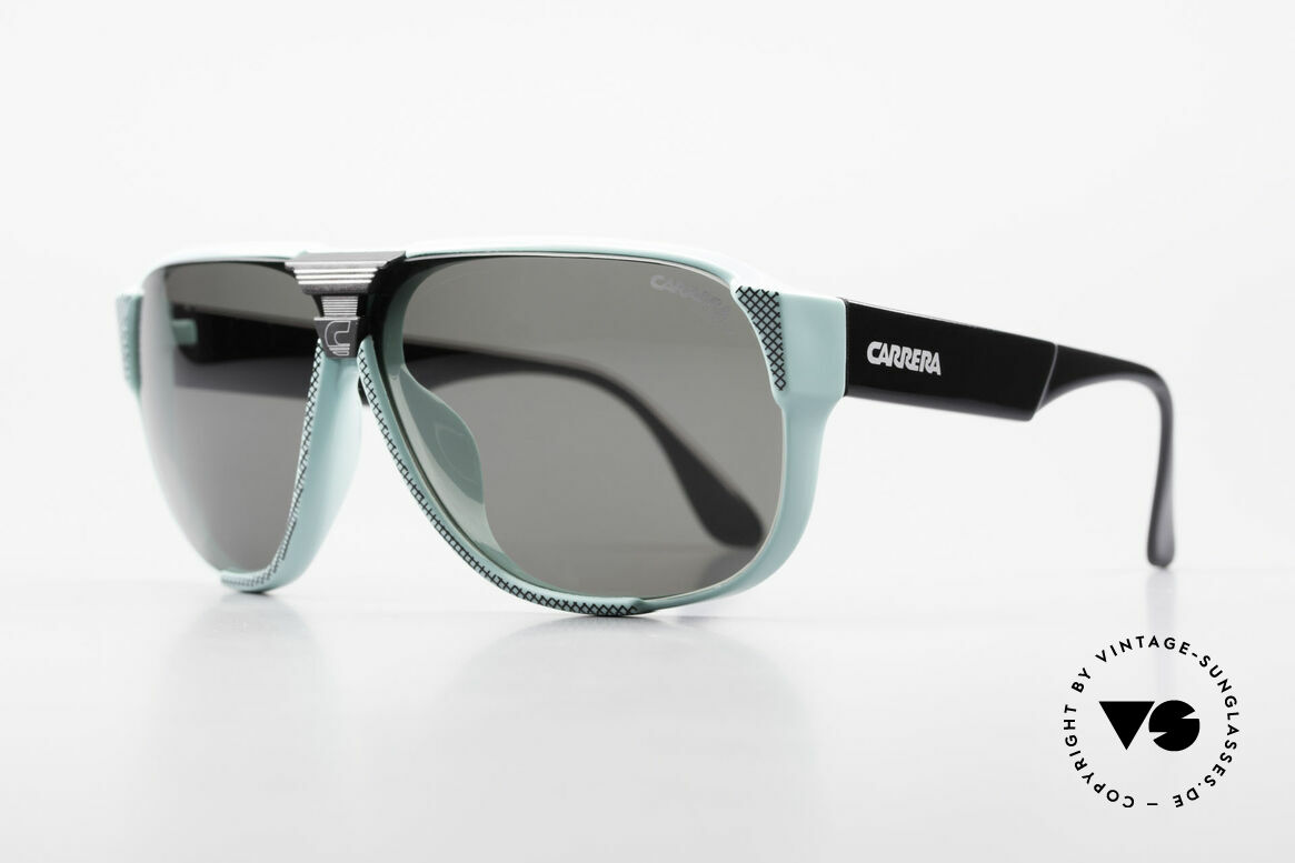 Carrera 5431 80's Vintage Sports Sunglasses, state-of-the-art lenses (2 sets) & with orig. case, Made for Men
