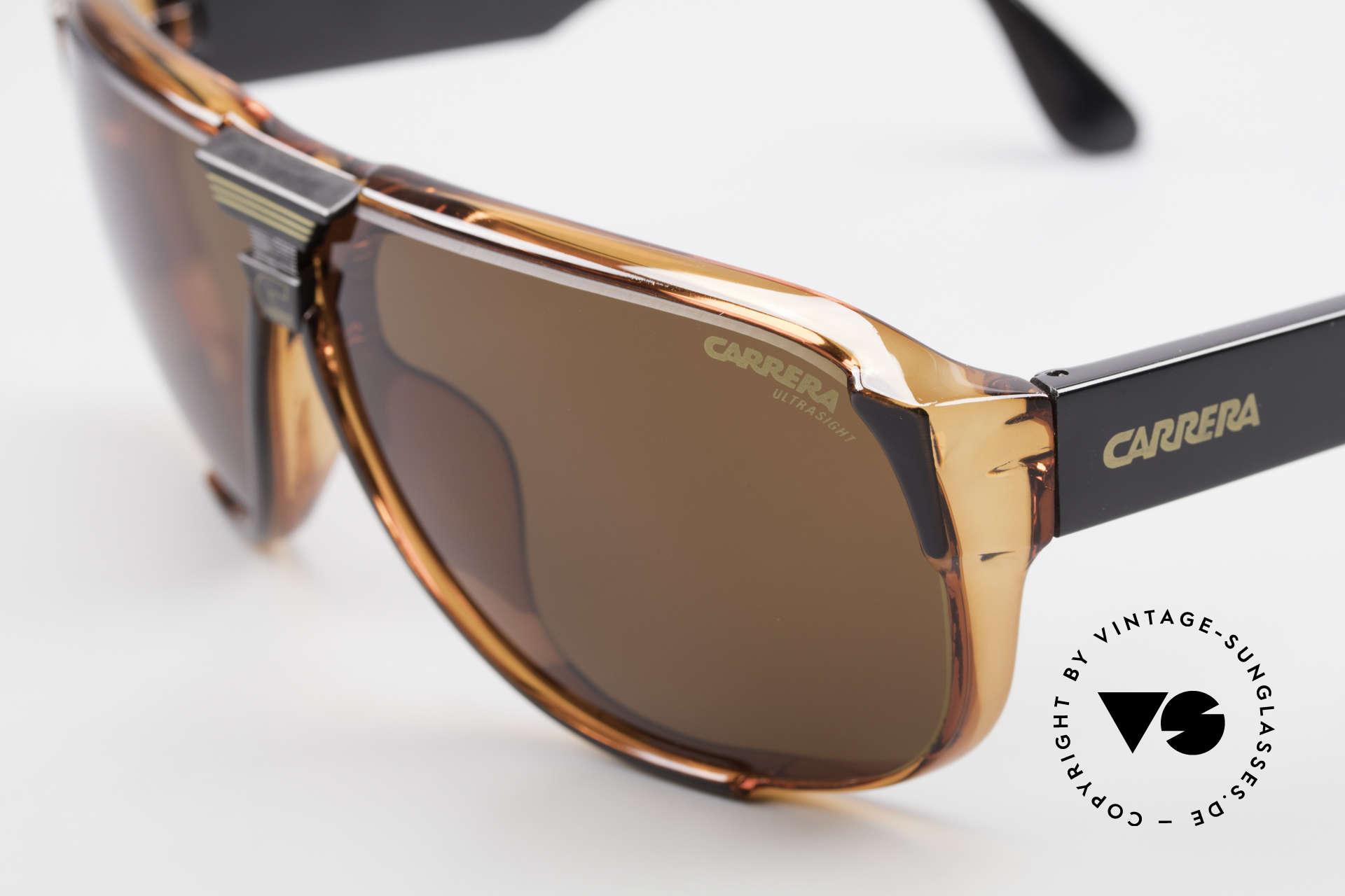 Carrera 5431 Men's 80's Sportsglasses Optyl, brown Ultrasight and brown-gradient (100% UV), Made for Men