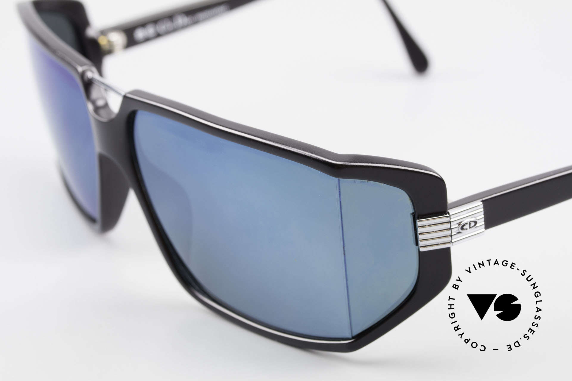 Christian Dior 2440 Monsieur 80's Men's Shades, with blue-mirrored polycarbonate  lenses (100% UV), Made for Men