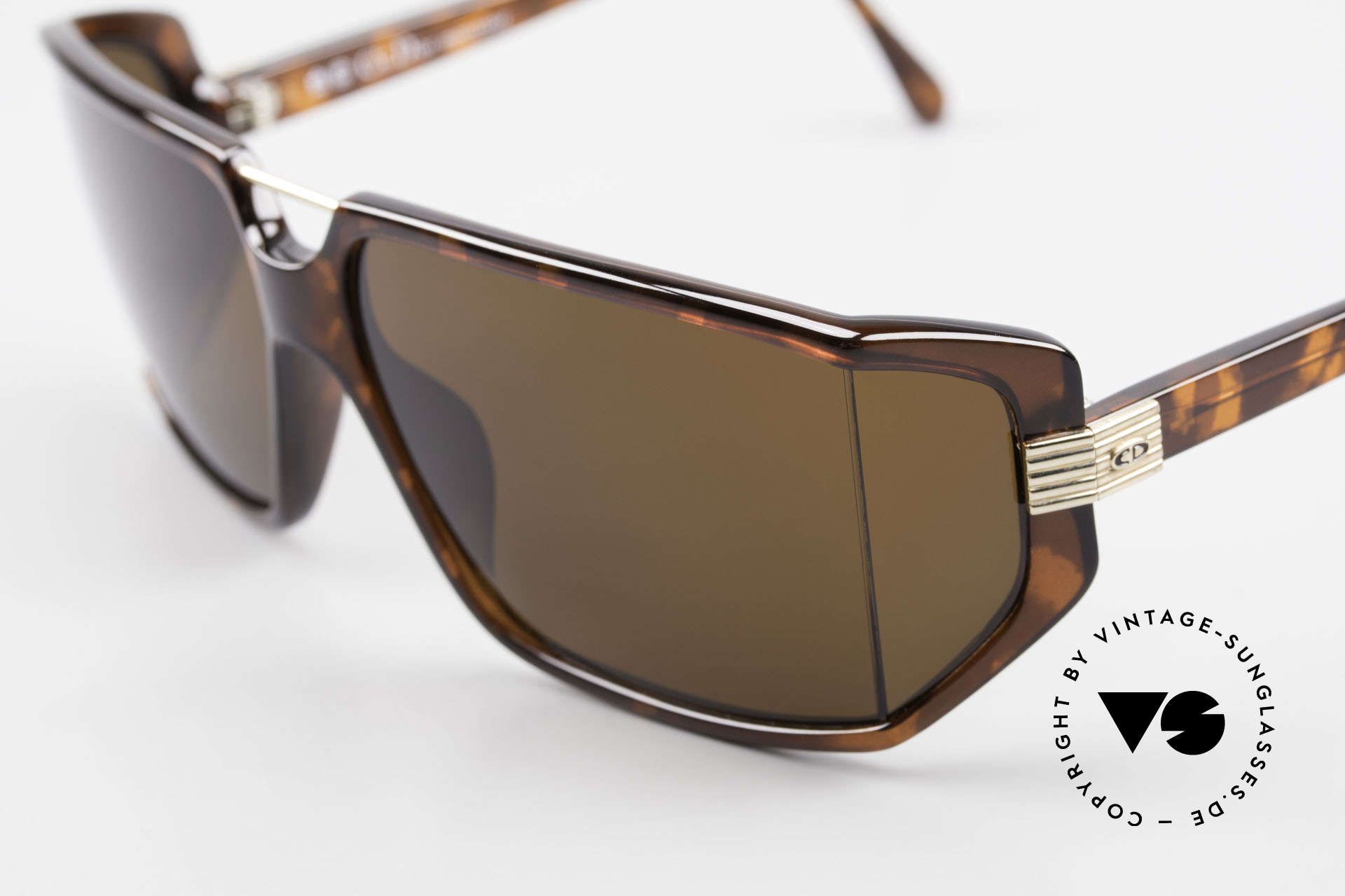 Christian Dior 2440 80's Monsieur Men's Shades, with dark brown polycarbonate sun lenses (100% UV), Made for Men