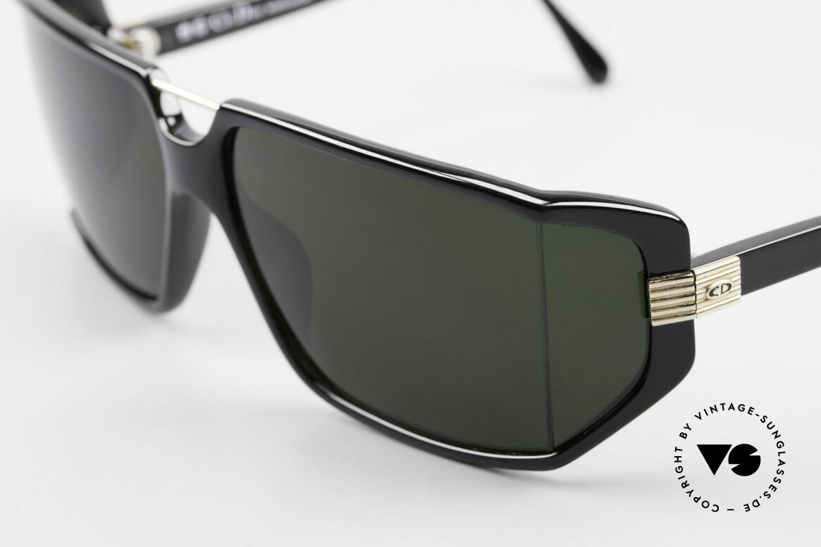 Christian Dior 2440 80's Dior Monsieur Sunglasses, with dark green polycarbonate sun lenses (100% UV), Made for Men