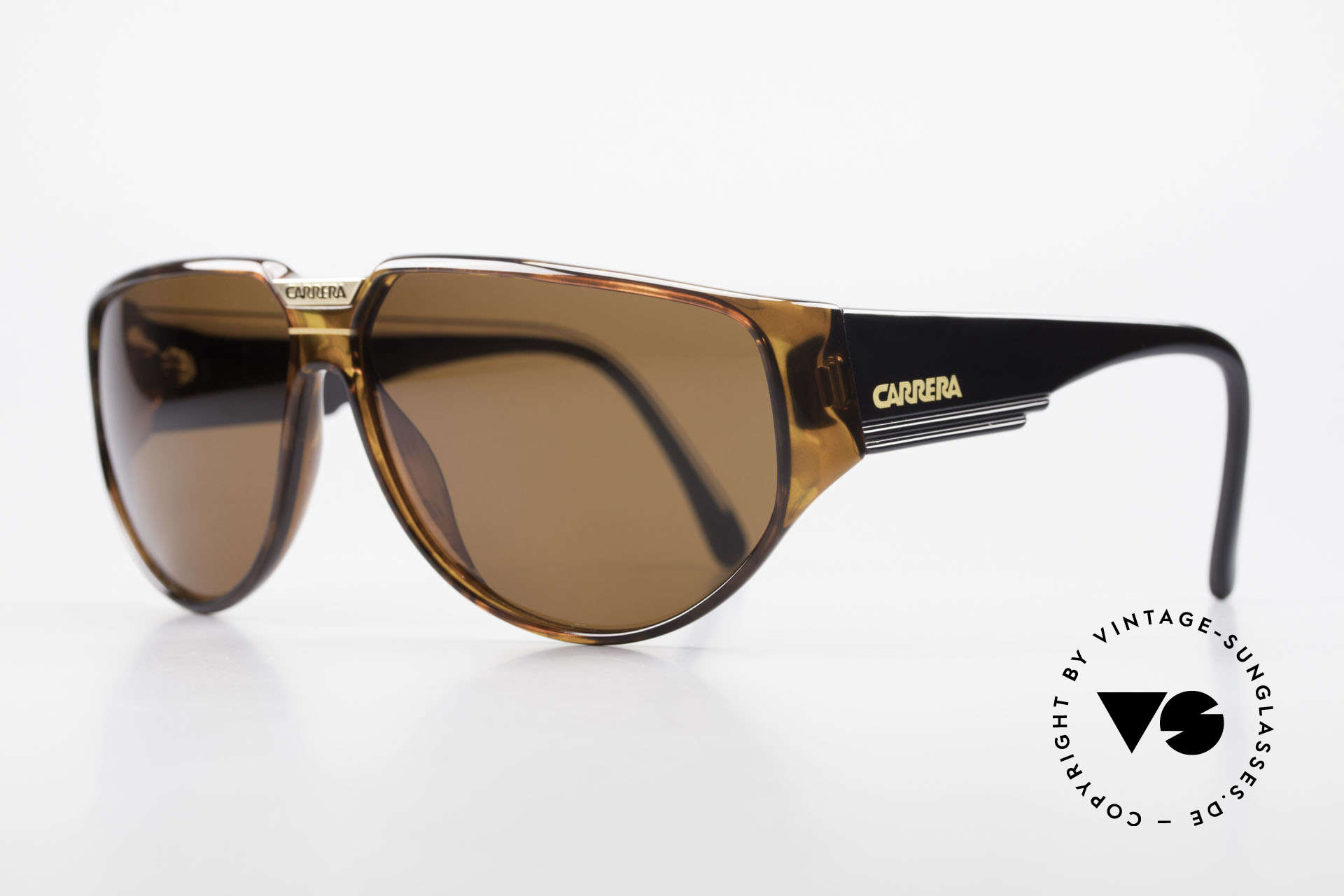 Carrera 5417 Rare 80's Sportsglasses Optyl, massive frame with beamy temples; + Carrera case, Made for Men