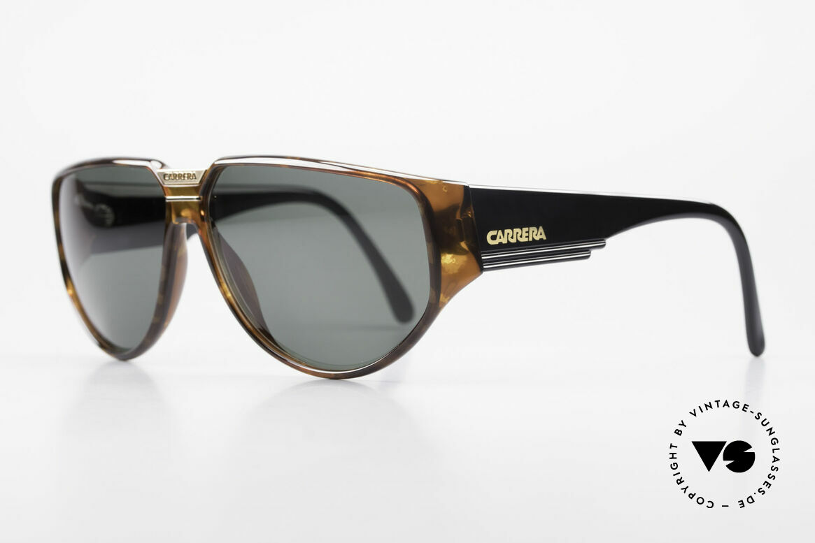 Carrera 5417 Designer 80's Sportsglasses, massive frame with beamy temples; + Carrera case, Made for Men