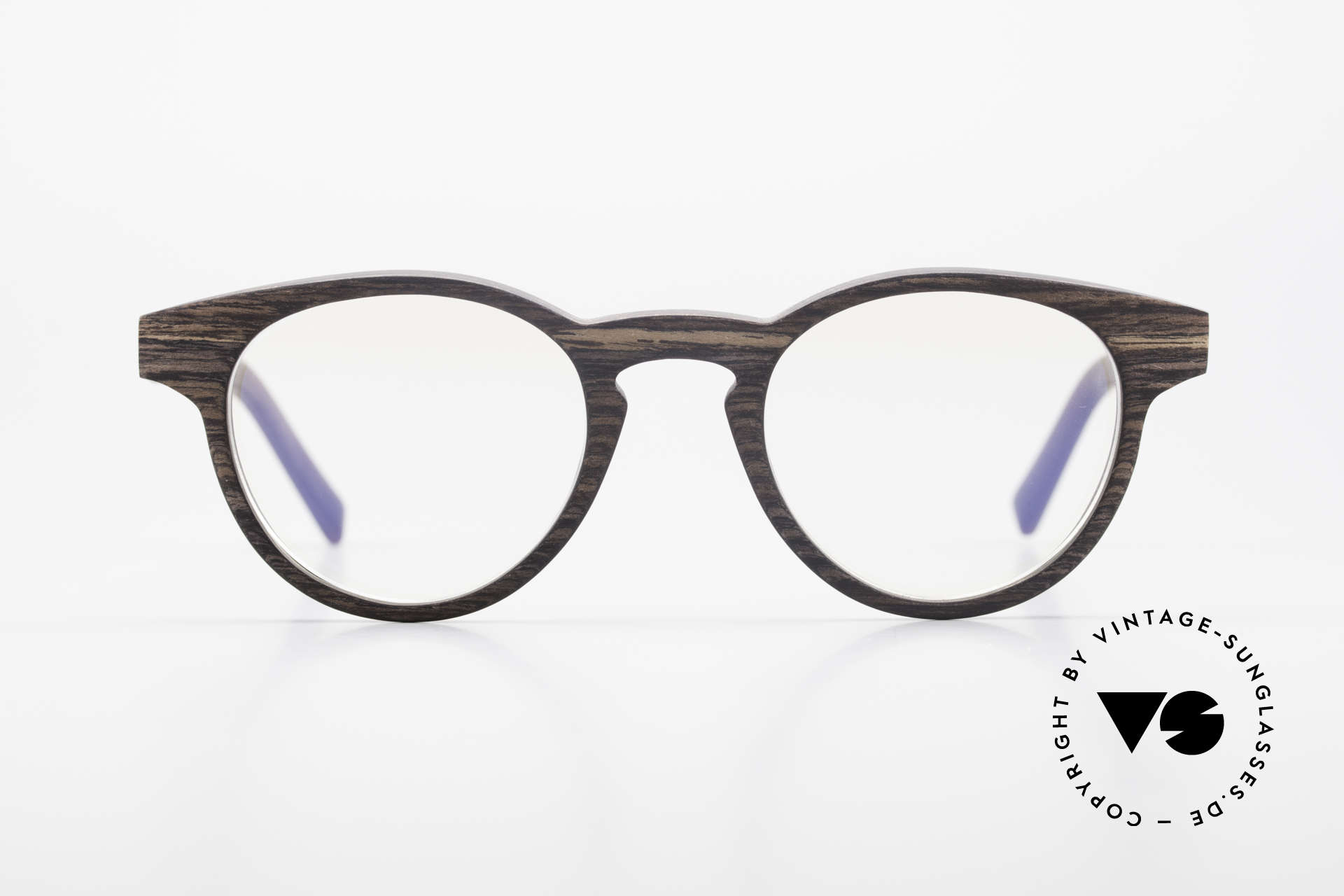 Kerbholz Friedrich Panto Wood Glasses Kingwood, made from rare Kingwood (only available in Brazil), Made for Men and Women