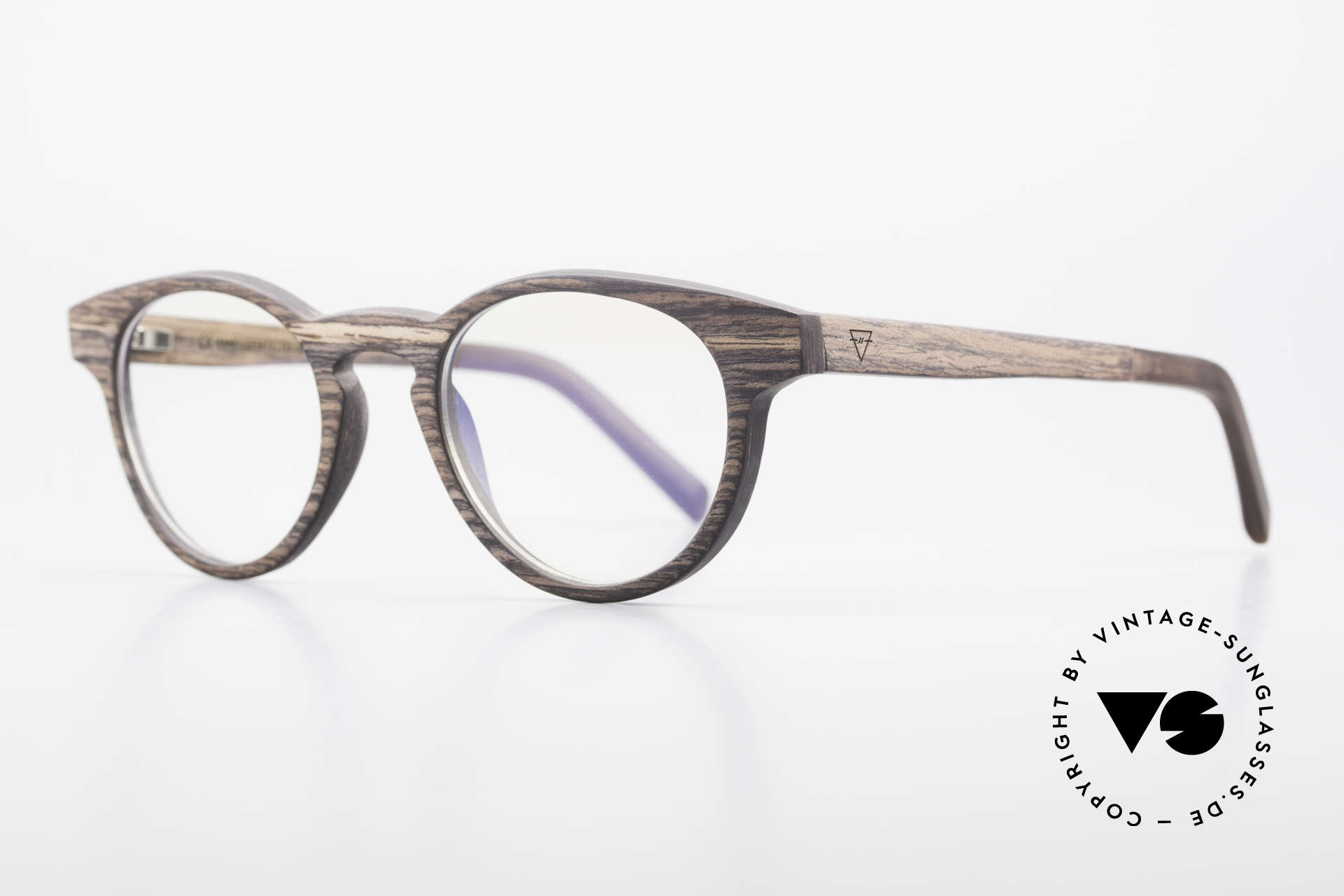 Kerbholz Friedrich Panto Wood Glasses Kingwood, it is brownish-purple with many fine darker stripes, Made for Men and Women