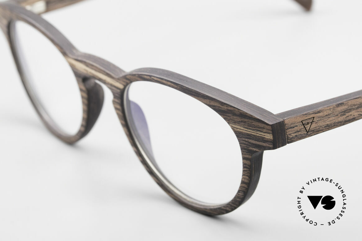 Kerbholz Friedrich Panto Wood Glasses Kingwood, a unique rarity (pure natural material, handmade), Made for Men and Women