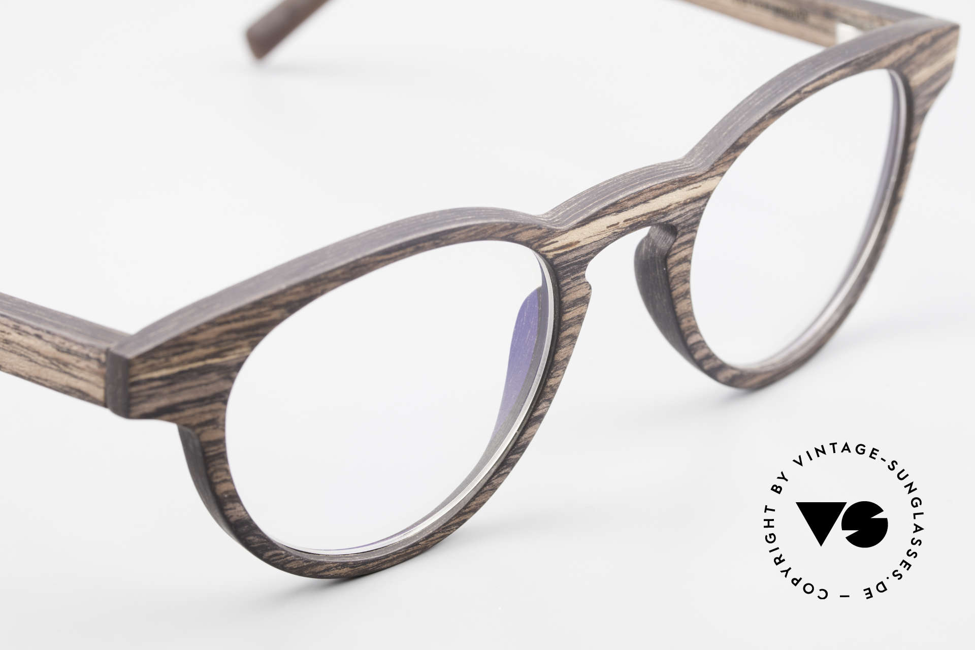 Kerbholz Friedrich Panto Wood Glasses Kingwood, unworn pair with flexible spring hinges (1. class fit), Made for Men and Women