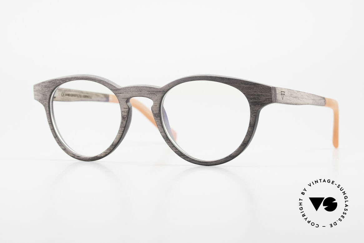 Kerbholz Friedrich Wood Frame Panto Blackwood, WOOD panto glasses by Kerbholz, made in Germany, Made for Men and Women