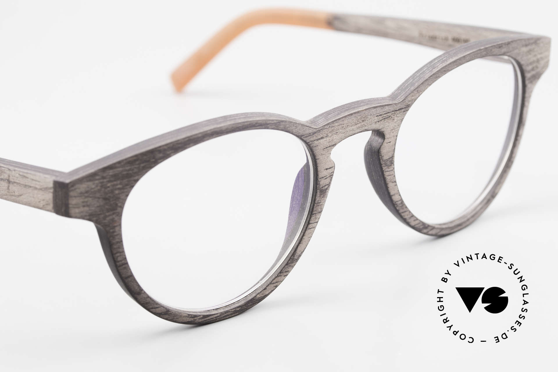 Kerbholz Friedrich Wood Frame Panto Blackwood, unworn pair with flexible spring hinges (1. class fit), Made for Men and Women
