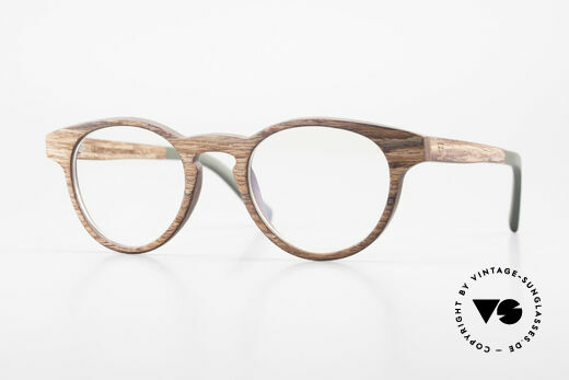 Kerbholz Friedrich Wood Glasses Panto Rosewood Details