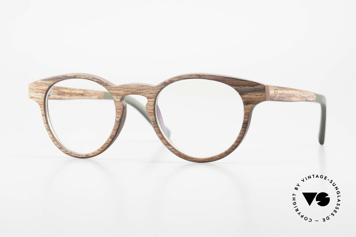 Kerbholz Friedrich Wood Glasses Panto Rosewood, WOOD panto glasses by Kerbholz, made in Germany, Made for Men and Women