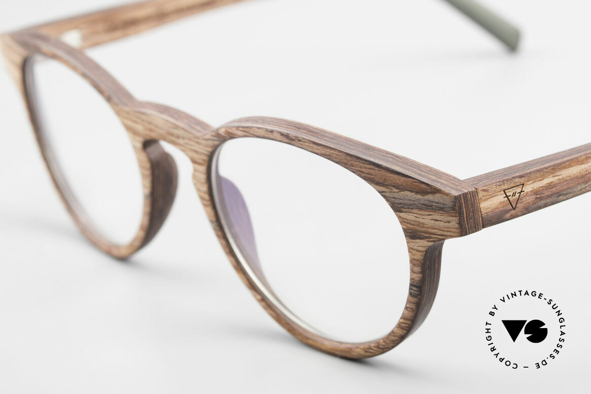Kerbholz Friedrich Wood Glasses Panto Rosewood, a unique rarity (pure natural material, handmade), Made for Men and Women