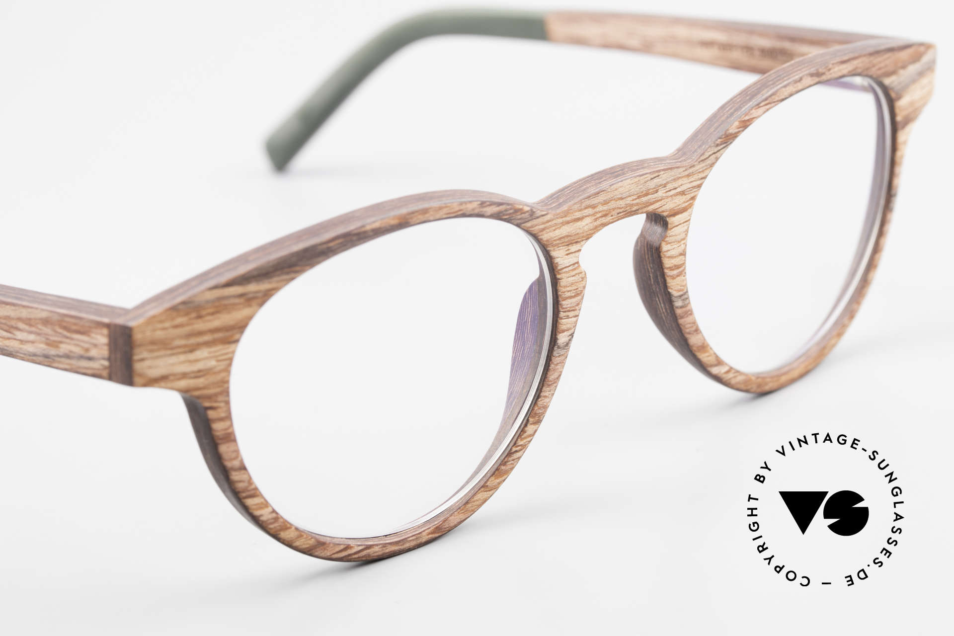 Kerbholz Friedrich Wood Glasses Panto Rosewood, unworn pair with flexible spring hinges (1. class fit), Made for Men and Women
