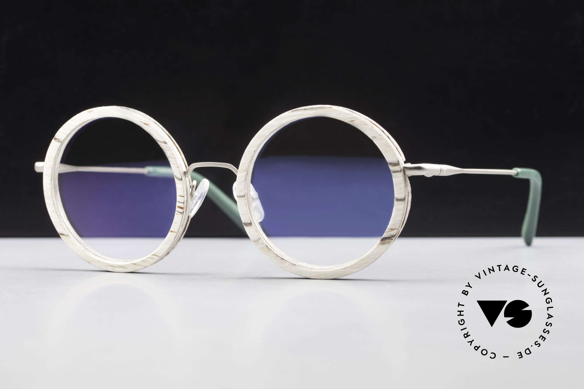 Kerbholz Rudolph Round Wood Frame White Birch, round WOOD glasses by Kerbholz, made in Germany, Made for Men and Women