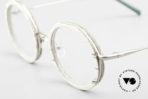 Kerbholz Rudolph Round Wood Frame White Birch, unworn frame can be glazed with lenses of any kind, Made for Men and Women