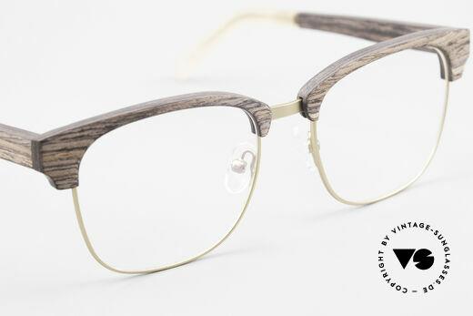 Kerbholz Albert Men's Wood Glasses Kingwood, unworn pair with flexible spring hinges (1. class fit), Made for Men