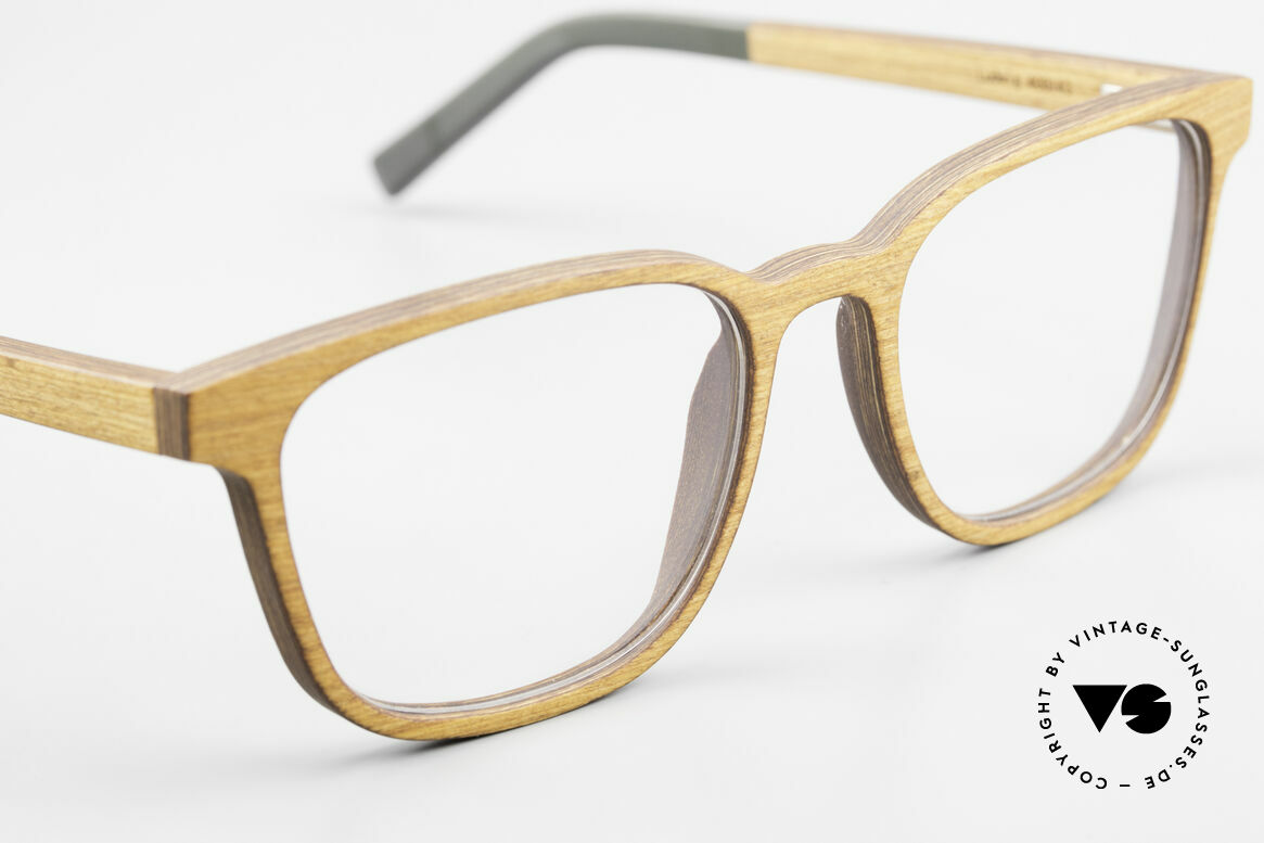 Kerbholz Ludwig Men's Wood Frame Alderwood, every model (made from pure wood) looks individual, Made for Men