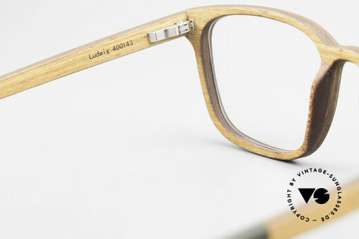 Kerbholz Ludwig Men's Wood Frame Alderwood, unworn pair with flexible spring hinges (1. class fit), Made for Men