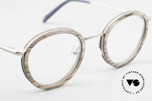 Kerbholz Otto Round Panto Walnut Frame, unworn frame can be glazed with lenses of any kind, Made for Men and Women