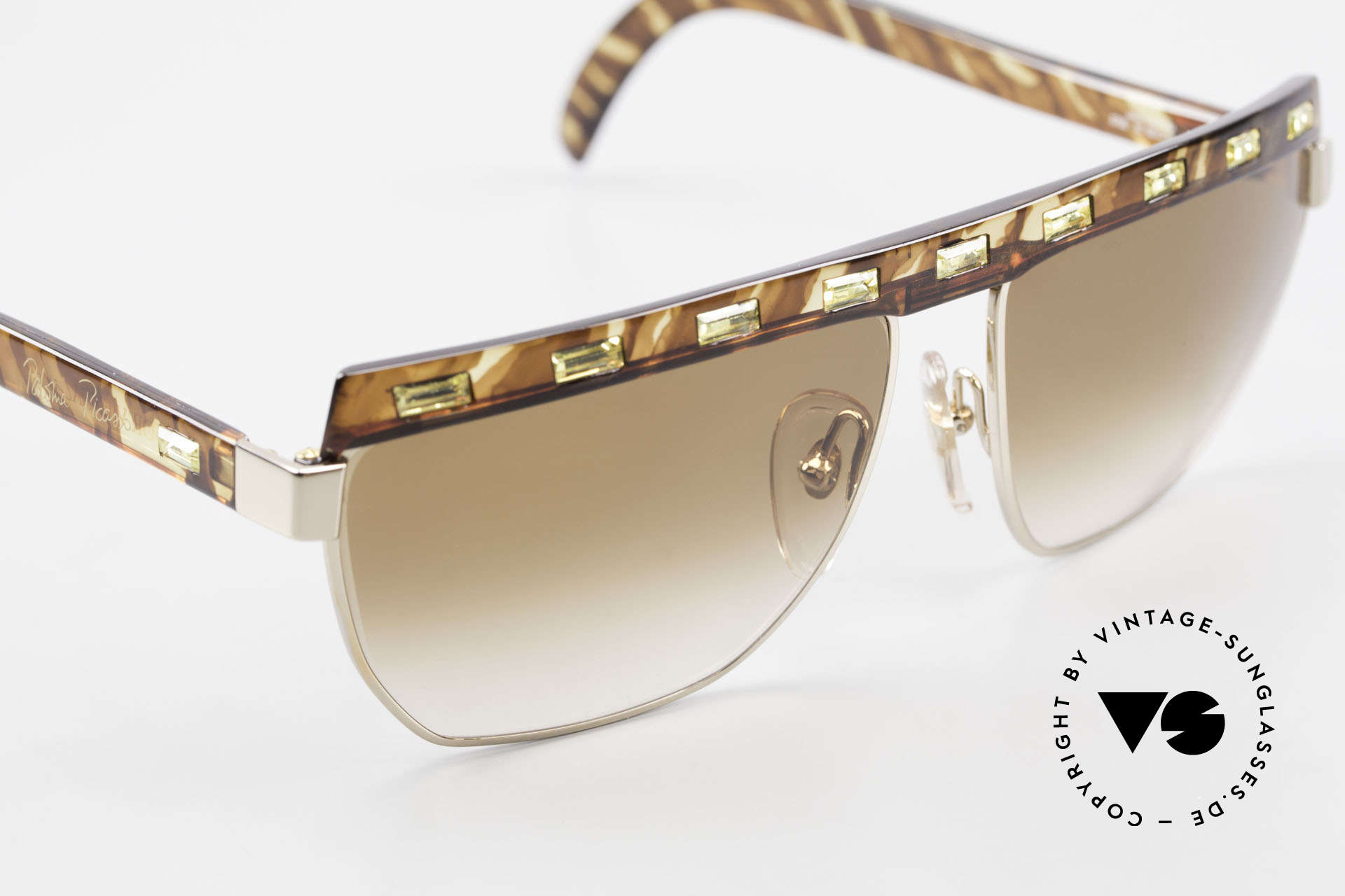 Paloma Picasso 3706 Ladies Gem Sunglasses 90's, fancy gimmick: the case can be used as wallet, too, Made for Women