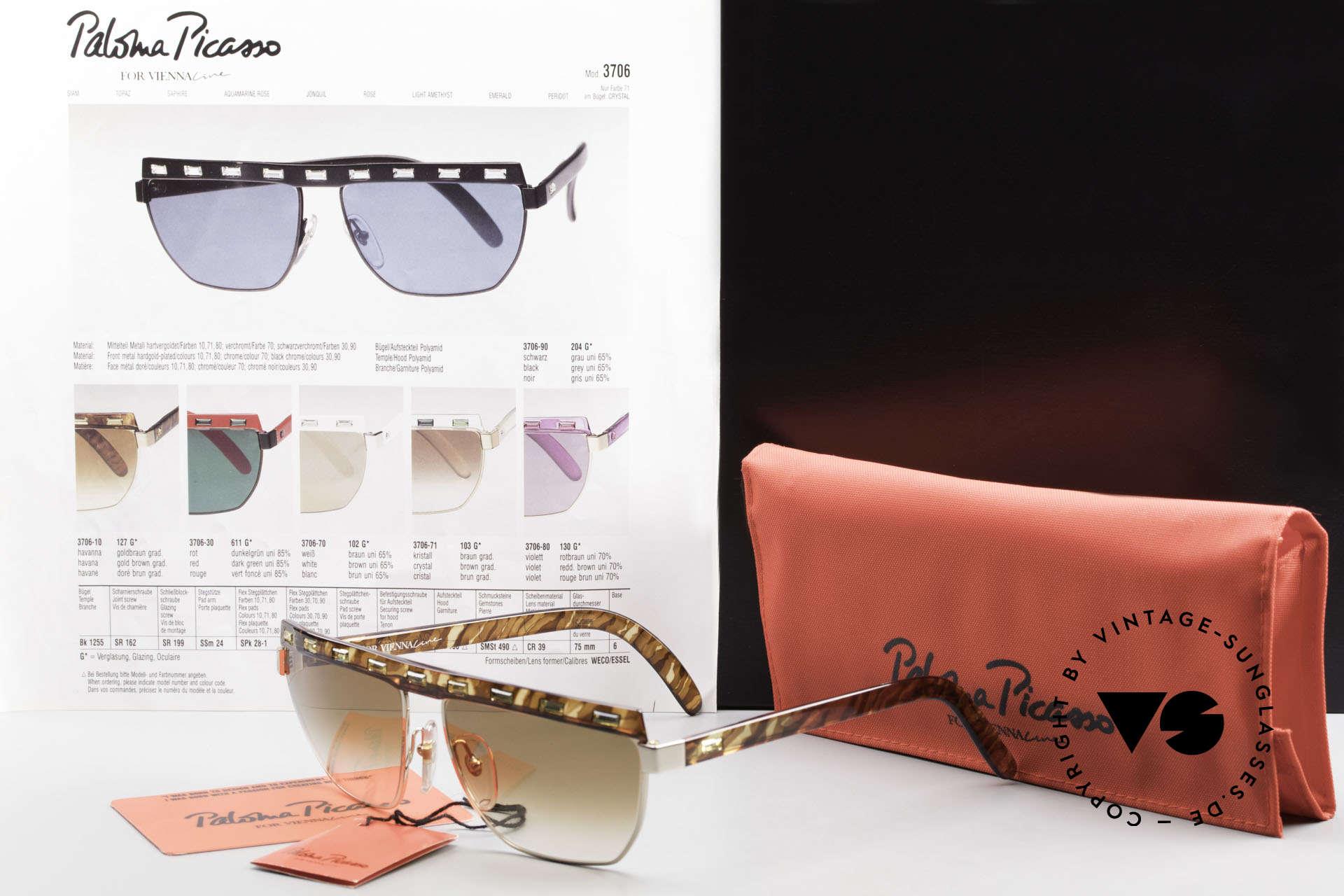 Paloma Picasso 3706 Ladies Gem Sunglasses 90's, Size: medium, Made for Women