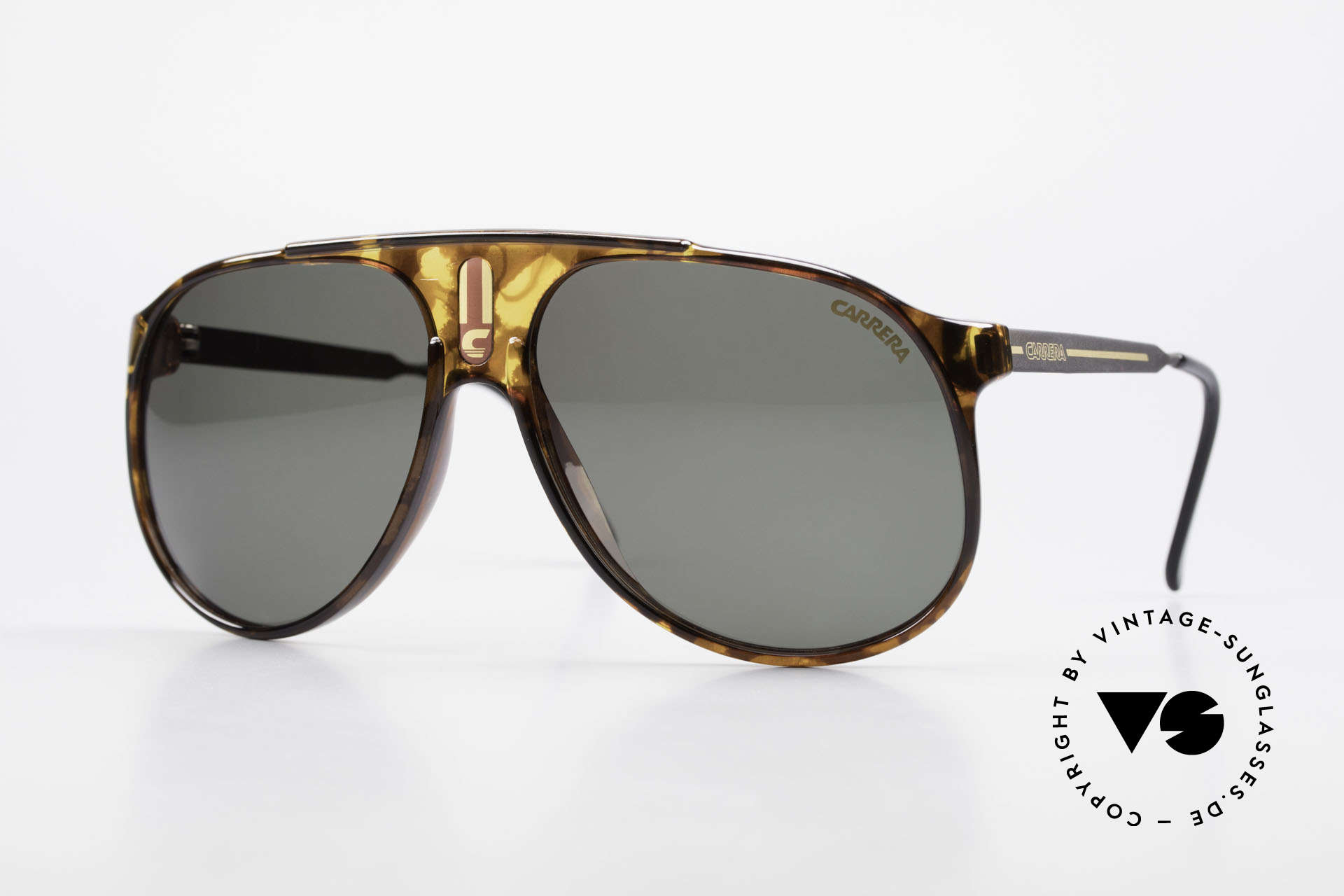 Carrera 5424 80's Aviator Sports Sunglasses, old 80's sports sunglasses by Carrera; true vintage, Made for Men
