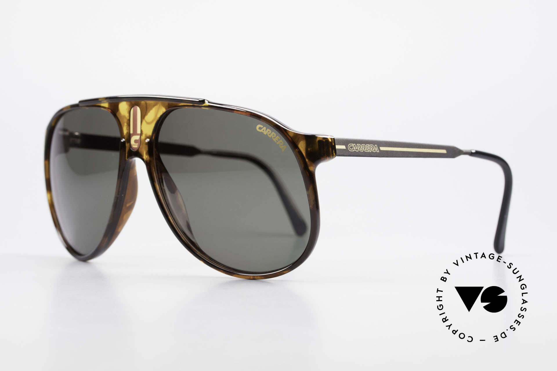 "Carrera 5424 80's Aviator Sports Sunglasses, combination of ""Sport Performance"" & aviator style, Made for Men"