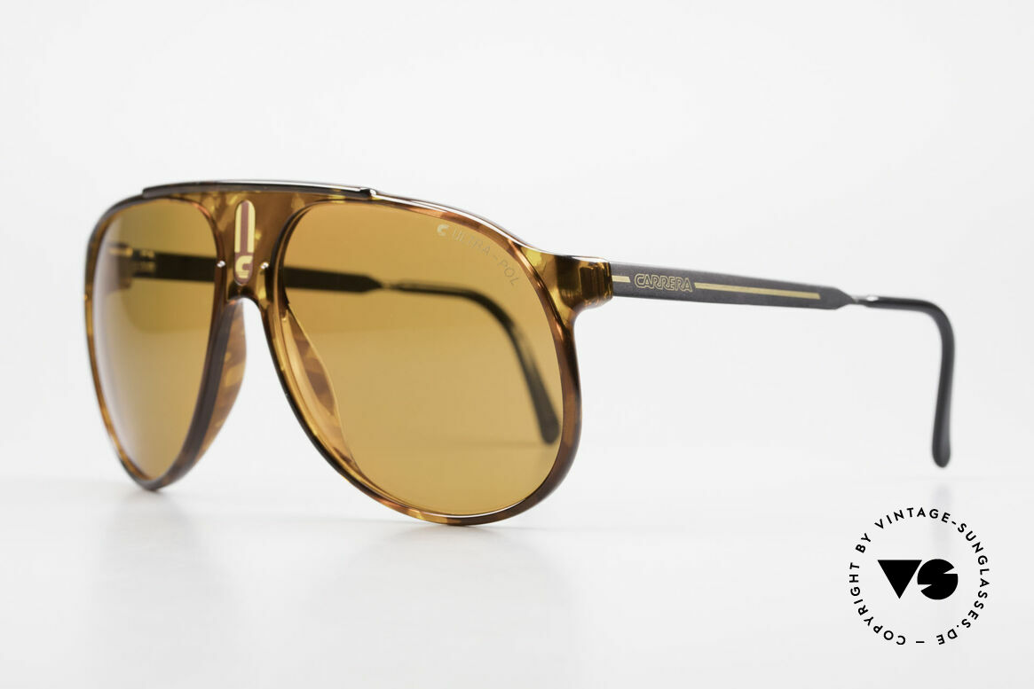"Carrera 5424 80's Sunglasses Polarized Lens, combination of ""Sport Performance"" & aviator style, Made for Men"