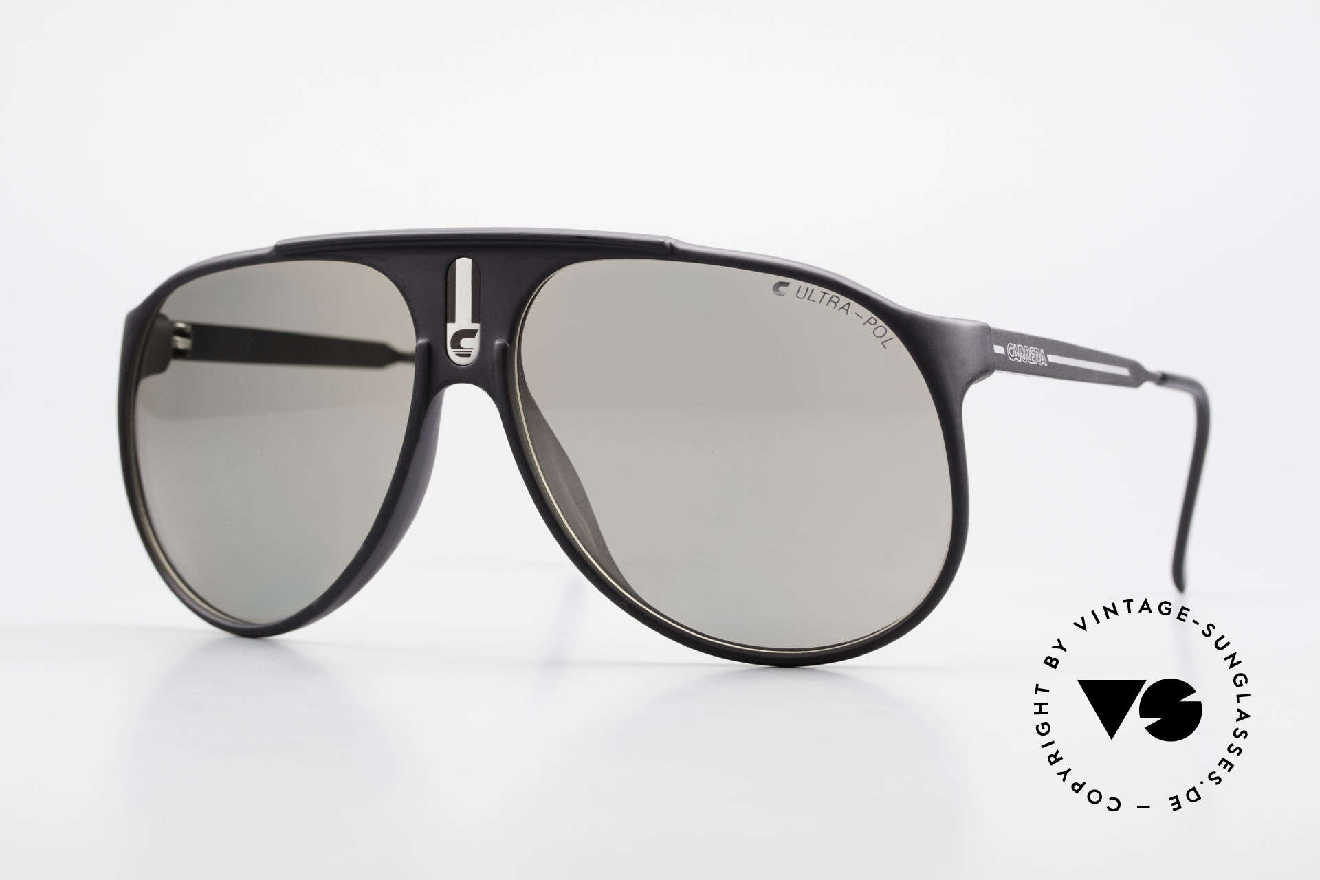 Carrera 5424 Sunglasses Polarized Lens 80's, old 80's sports sunglasses by Carrera; true vintage, Made for Men