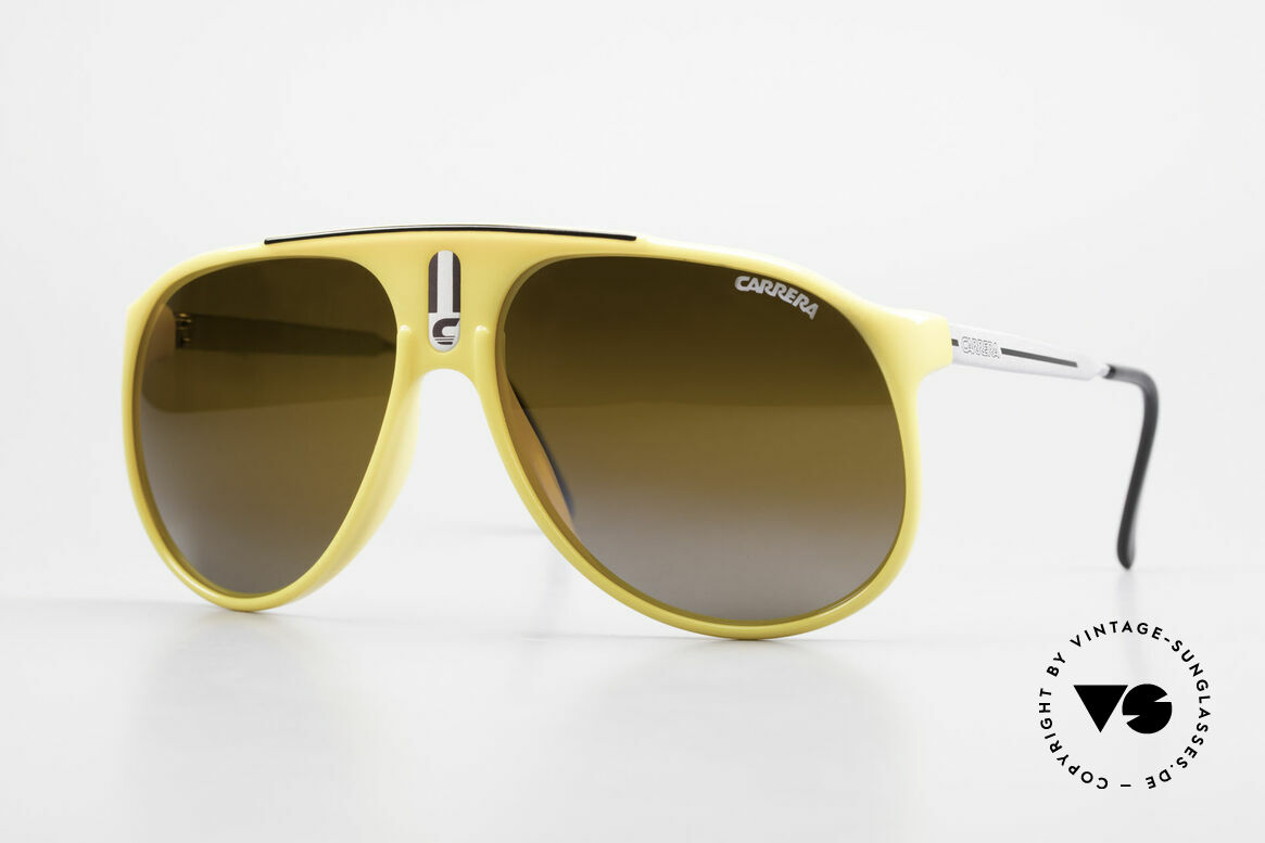 Carrera 5424 Rare Mirrored 80's Sunglasses, old 80's sports sunglasses by Carrera; true vintage, Made for Men