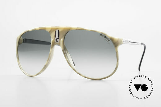 Carrera 5424 Camouflage Aviator Shades 80s Details