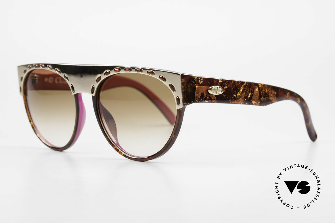 Christian Dior 2437 Ladies Sunglasses 80's Vintage, frame shines amber-havana & completely pink on the back, Made for Women