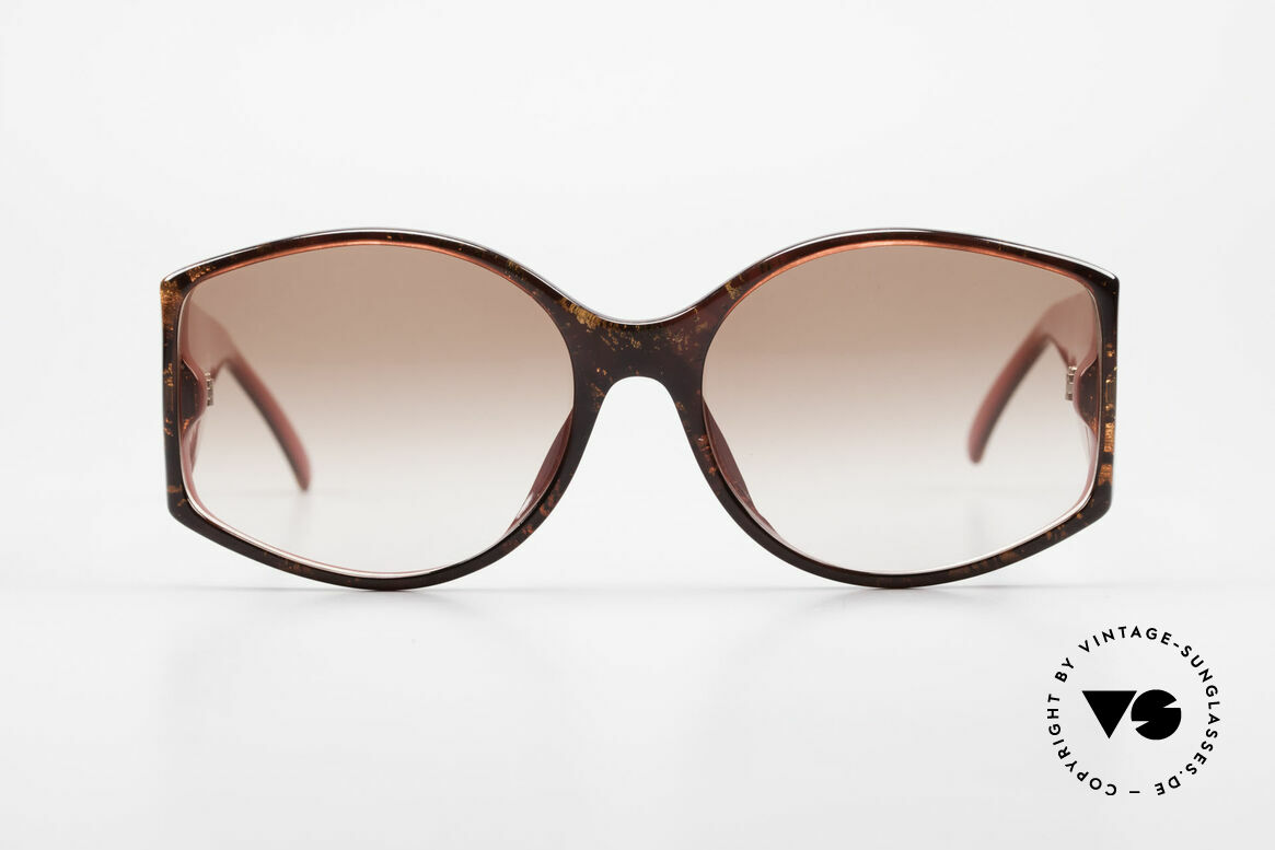 Christian Dior 2435 Designer 80's Sunglasses Ladies, synthetic Optyl frame with ostentatious temples, Made for Women